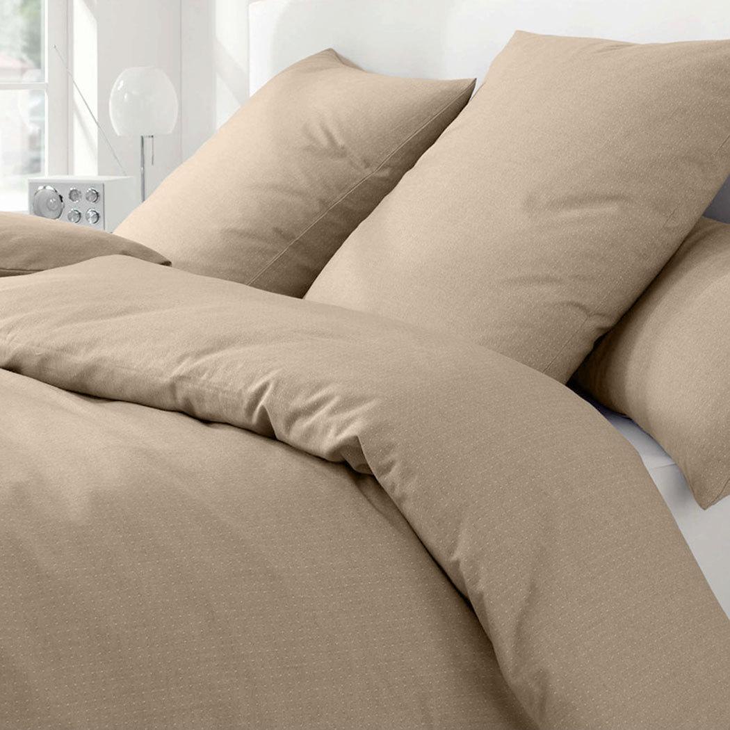 elegante soft flanell bettw sche coventry camel g nstig online kaufen bei bettwaren shop. Black Bedroom Furniture Sets. Home Design Ideas