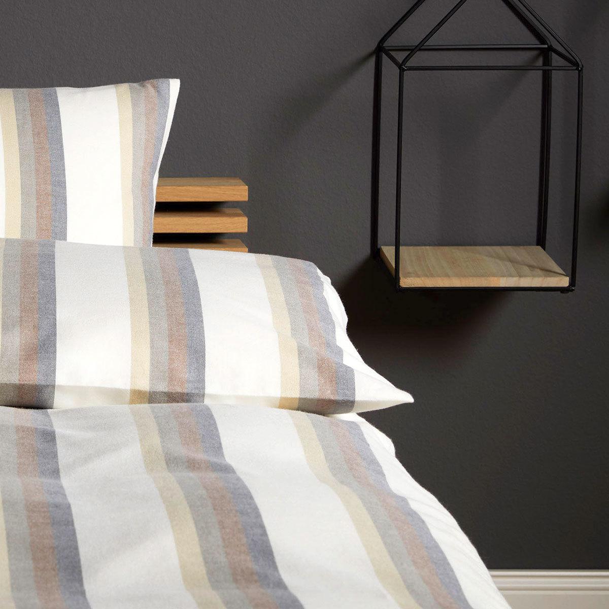 elegante soft flanell bettw sche regent natur g nstig online kaufen bei bettwaren shop. Black Bedroom Furniture Sets. Home Design Ideas