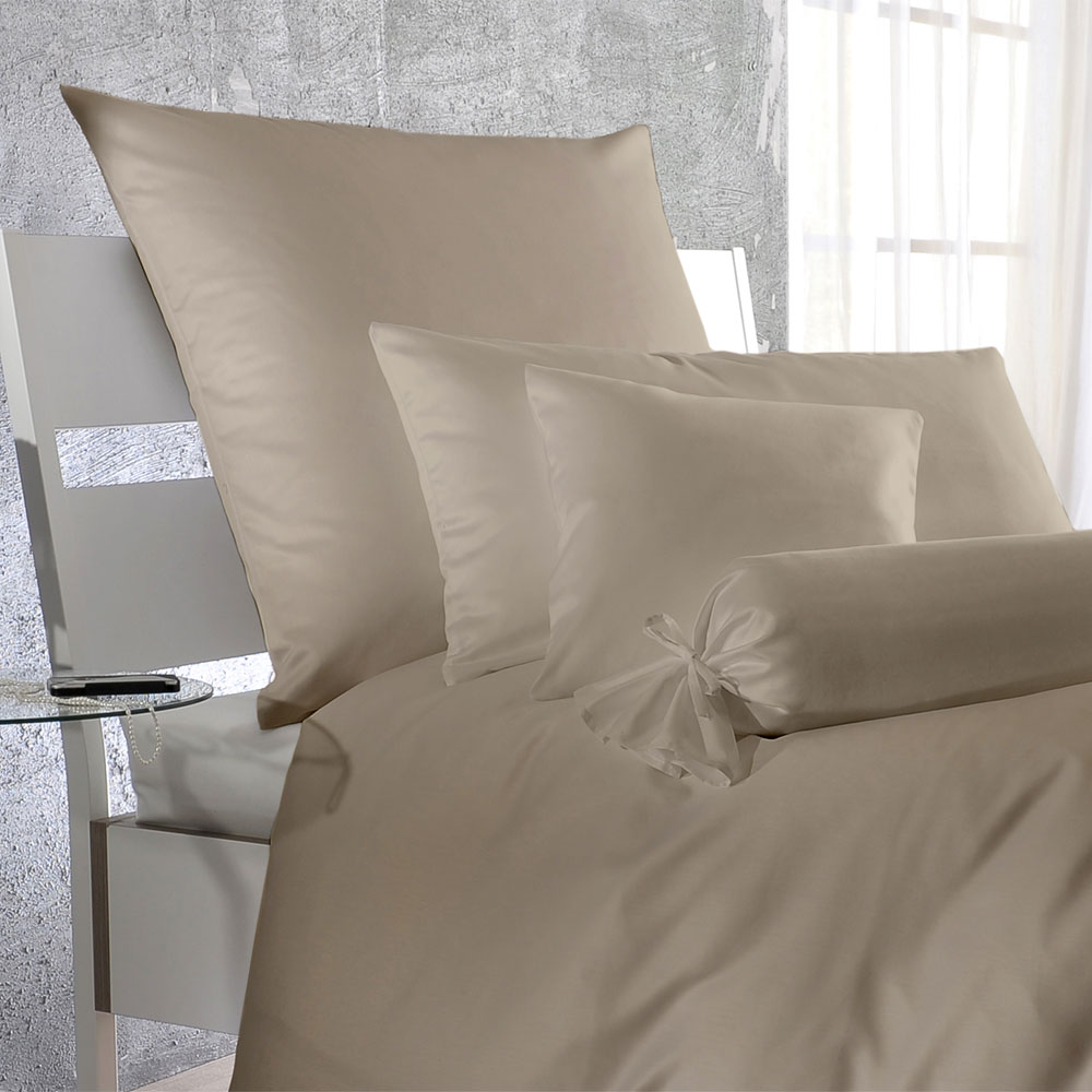 bettwarenshop uni mako satin bettw sche sabbia g nstig online kaufen bei bettwaren shop. Black Bedroom Furniture Sets. Home Design Ideas