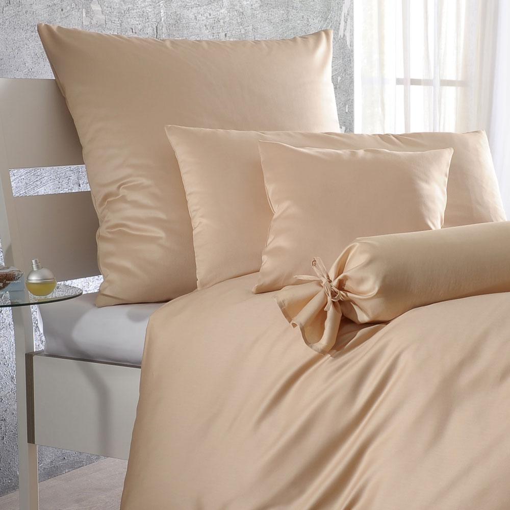 bettwarenshop uni mako satin bettw sche sand g nstig. Black Bedroom Furniture Sets. Home Design Ideas