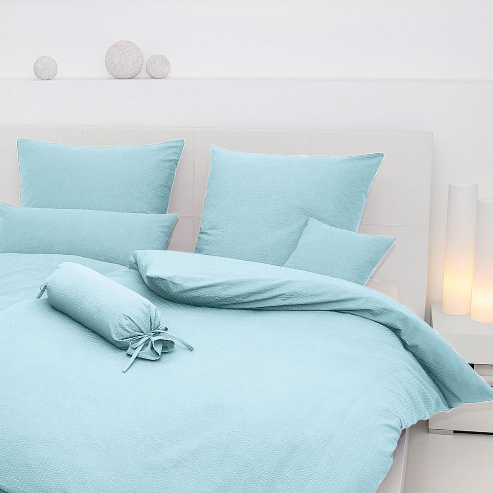 janine uni seersucker bettw sche piano kristallblau g nstig online kaufen bei bettwaren shop. Black Bedroom Furniture Sets. Home Design Ideas