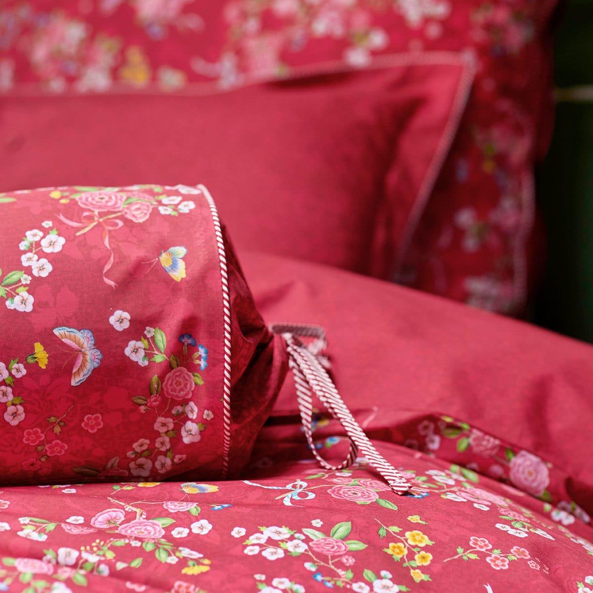 pip studio bettw sche chinese rose bouquet red g nstig online kaufen bei bettwaren shop. Black Bedroom Furniture Sets. Home Design Ideas
