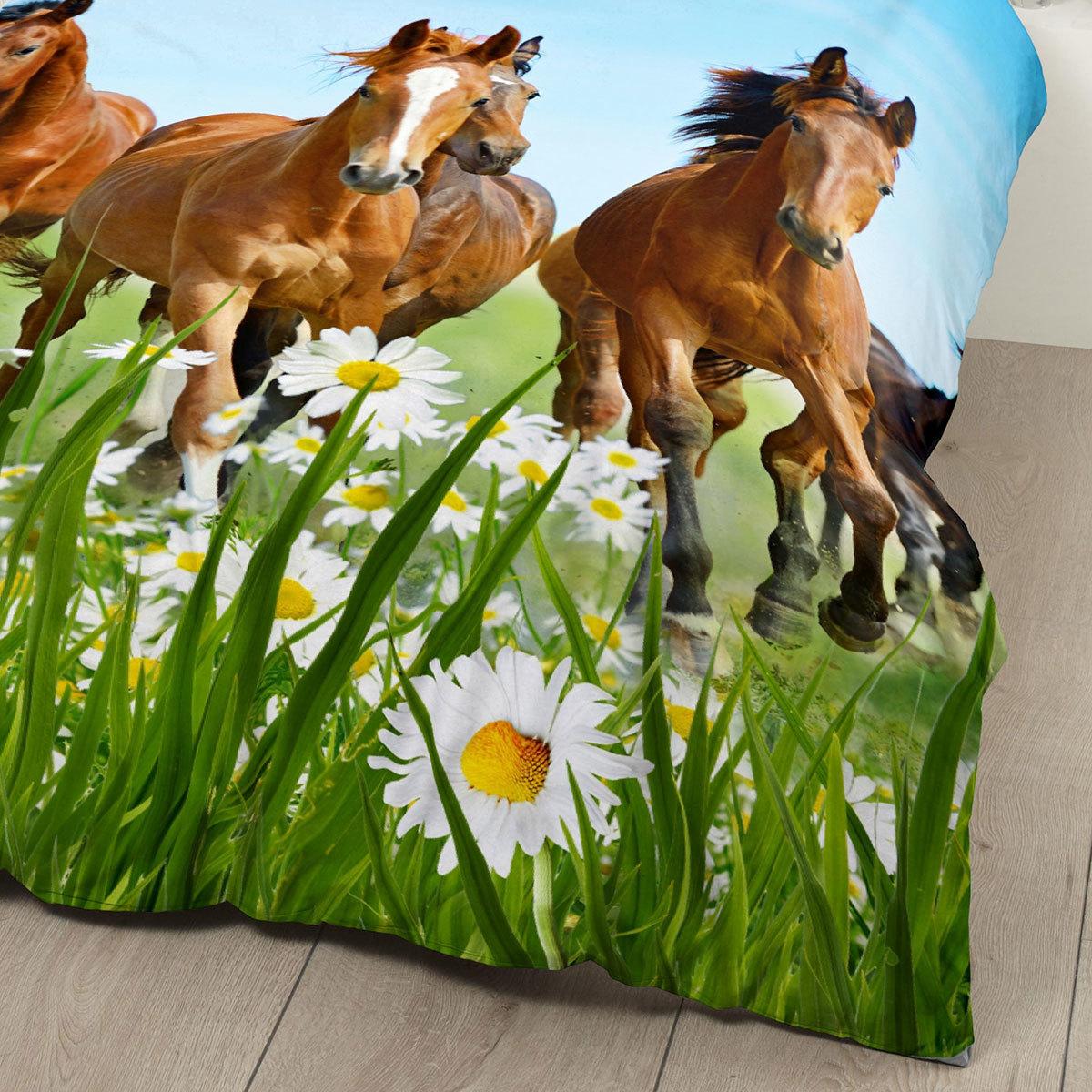 good morning bettw sche horses pferde g nstig online kaufen bei bettwaren shop. Black Bedroom Furniture Sets. Home Design Ideas