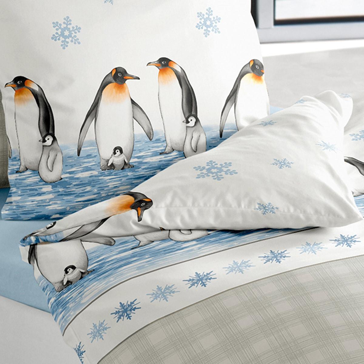 Irisette Biber Bettwäsche Davos Pinguine Günstig Online Kaufen Bei
