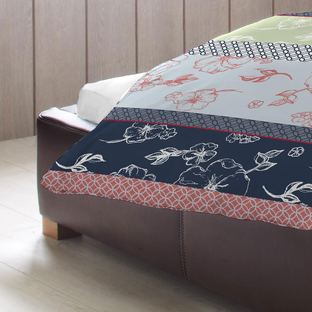 bettwarenshop biber bettw sche flower blau g nstig online kaufen bei bettwaren shop. Black Bedroom Furniture Sets. Home Design Ideas