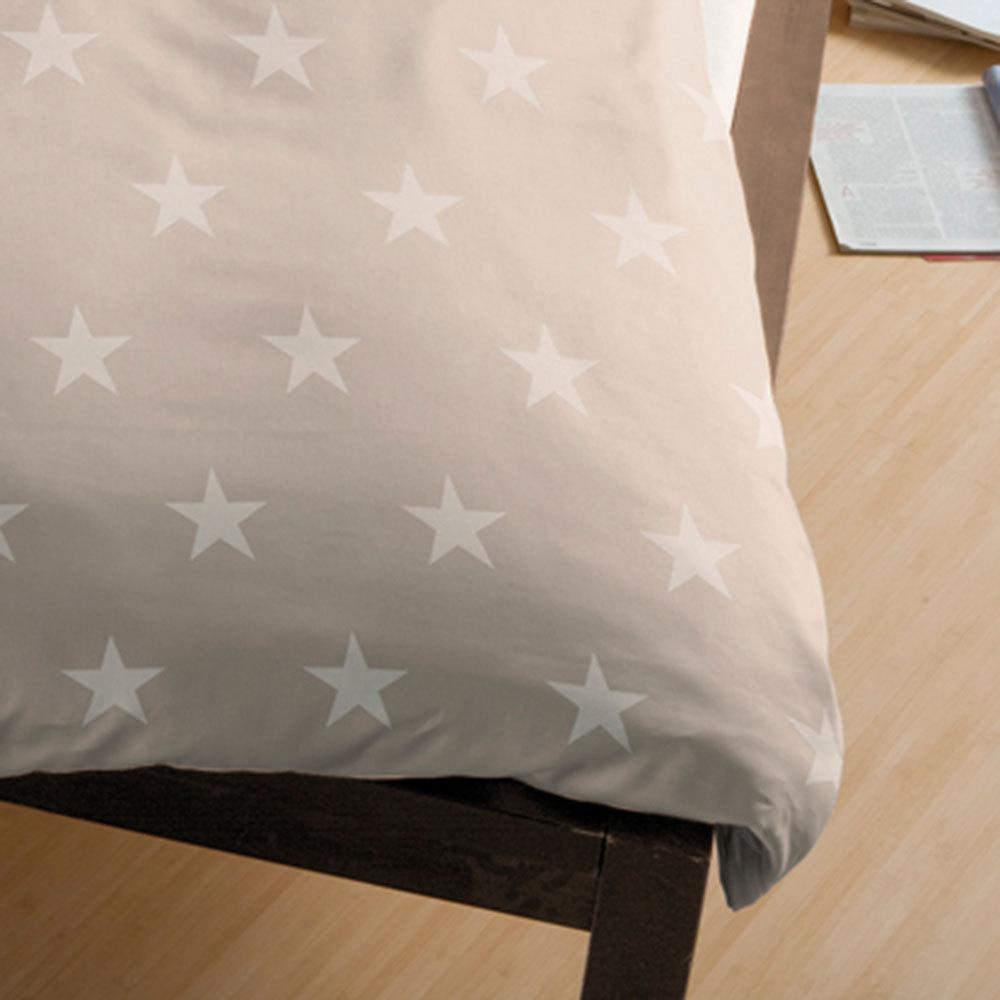 bettwarenshop biber bettw sche stars natur g nstig online kaufen bei bettwaren shop. Black Bedroom Furniture Sets. Home Design Ideas