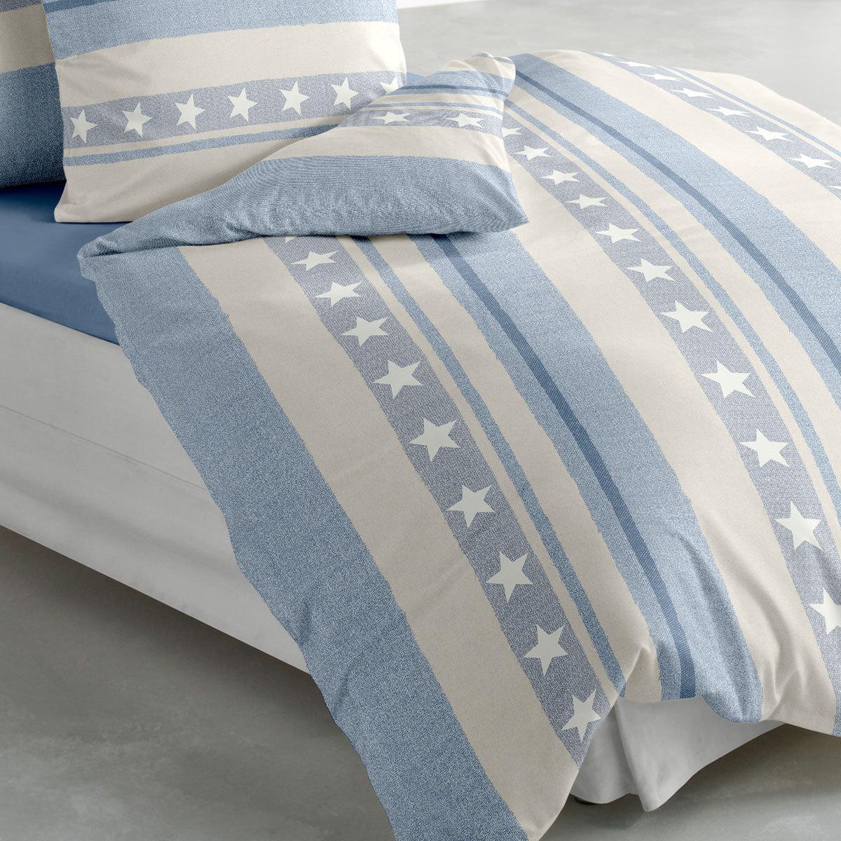 bierbaum biber bettw sche sterne blau g nstig online. Black Bedroom Furniture Sets. Home Design Ideas