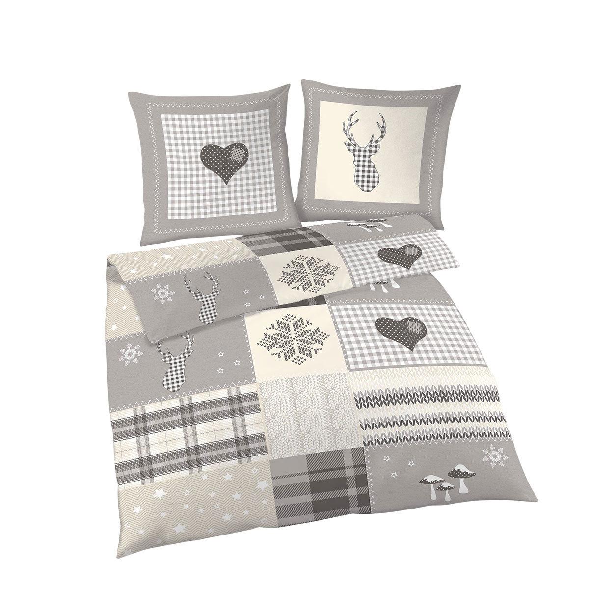 dobnig biber bettw sche weihnachten natur g nstig online kaufen bei bettwaren shop. Black Bedroom Furniture Sets. Home Design Ideas