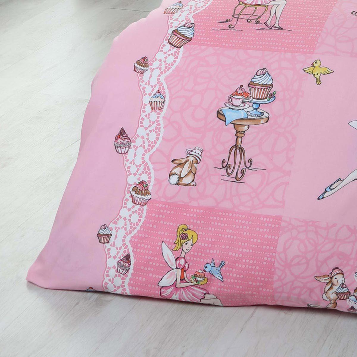 kaeppel biber kinderbettw sche cupcake rosa g nstig online kaufen bei bettwaren shop. Black Bedroom Furniture Sets. Home Design Ideas