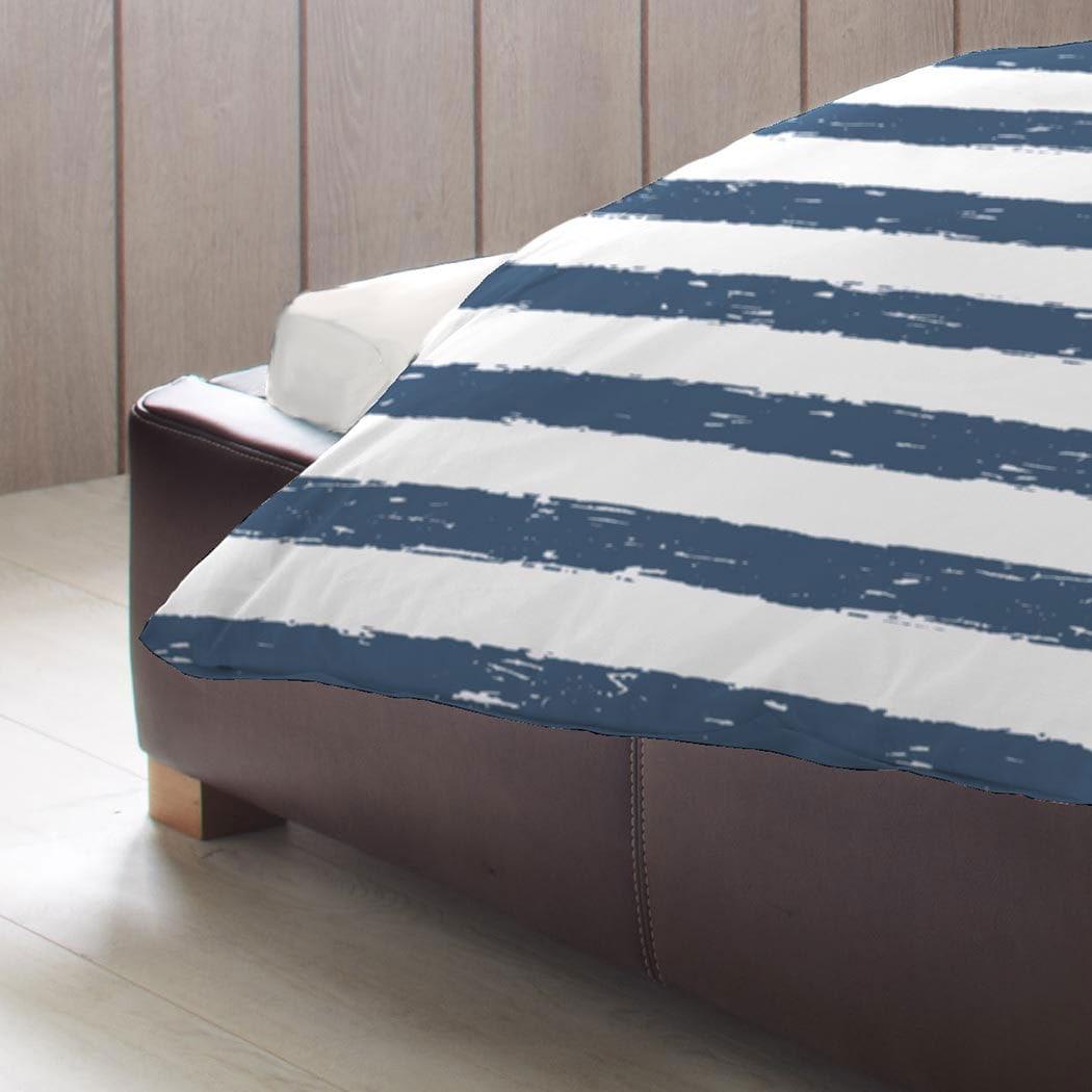 bettwarenshop biber wendebettw sche streifen blau g nstig online kaufen bei bettwaren shop. Black Bedroom Furniture Sets. Home Design Ideas