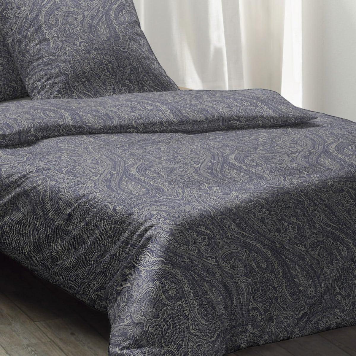fleuresse edelflanell bettw sche paisley 603868 02 marine. Black Bedroom Furniture Sets. Home Design Ideas
