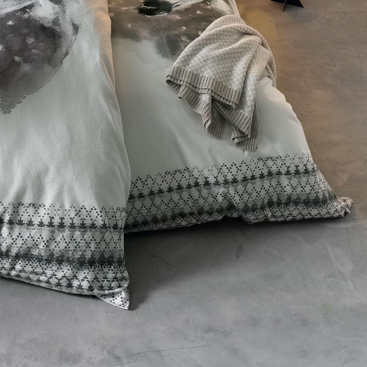 traumschlaf feinbiber bettw sche reh silber g nstig online. Black Bedroom Furniture Sets. Home Design Ideas