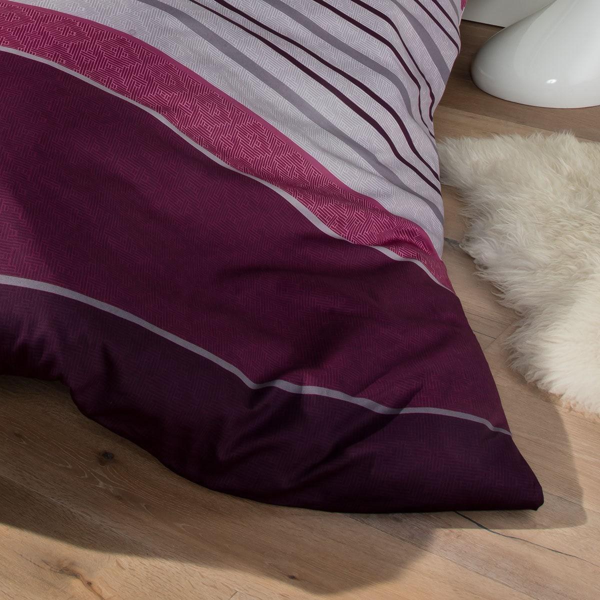 s oliver feinflanell bettw sche z rich weinrot g nstig online kaufen bei bettwaren shop. Black Bedroom Furniture Sets. Home Design Ideas
