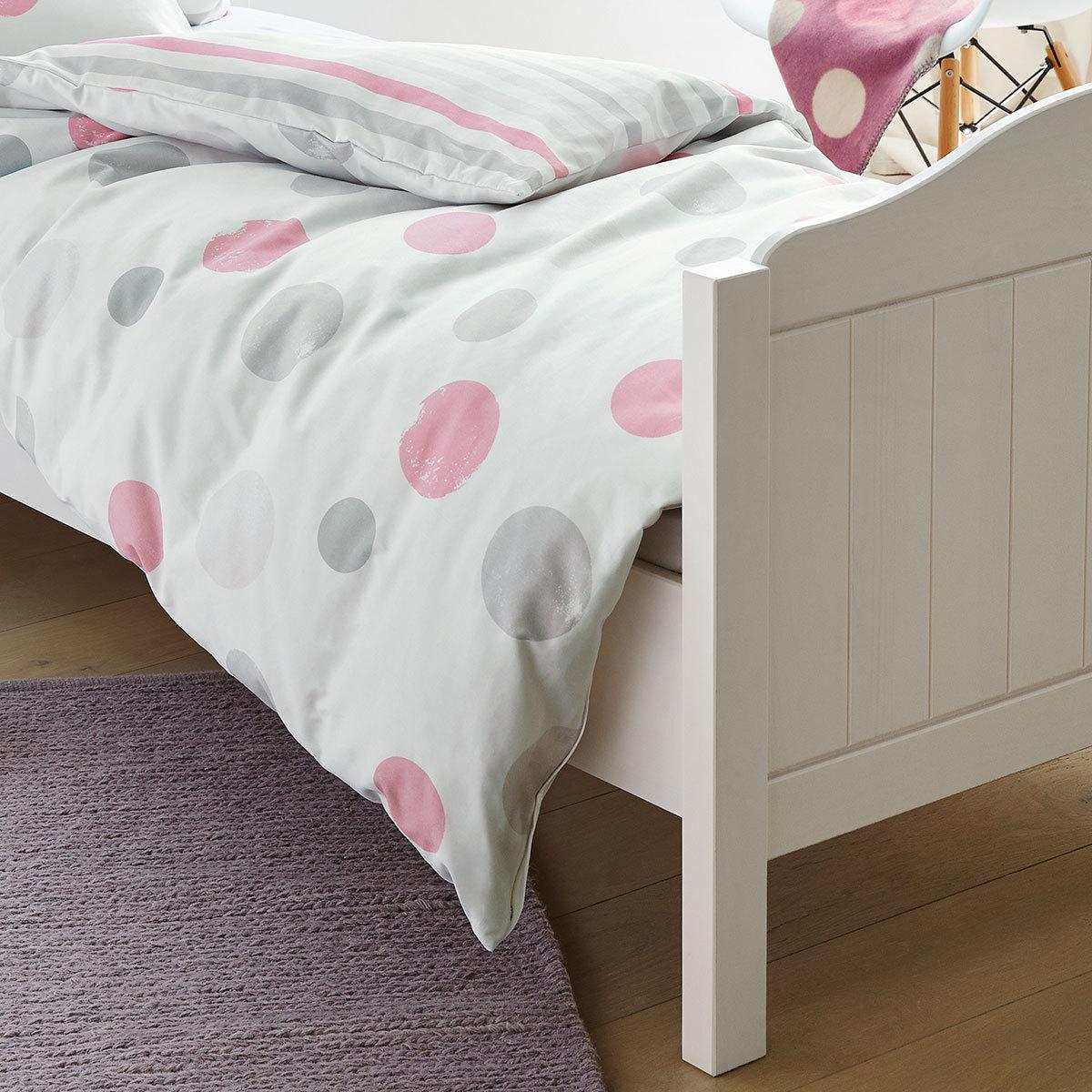 s oliver flanell bettw sche punkte rosa g nstig online kaufen bei bettwaren shop. Black Bedroom Furniture Sets. Home Design Ideas