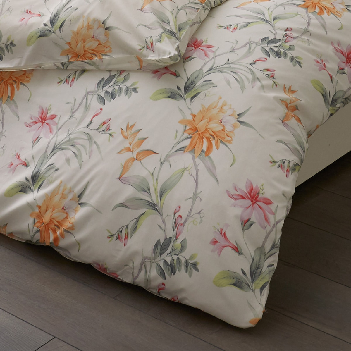 estella mako interlock jersey bettw sche 6155 360 orange. Black Bedroom Furniture Sets. Home Design Ideas