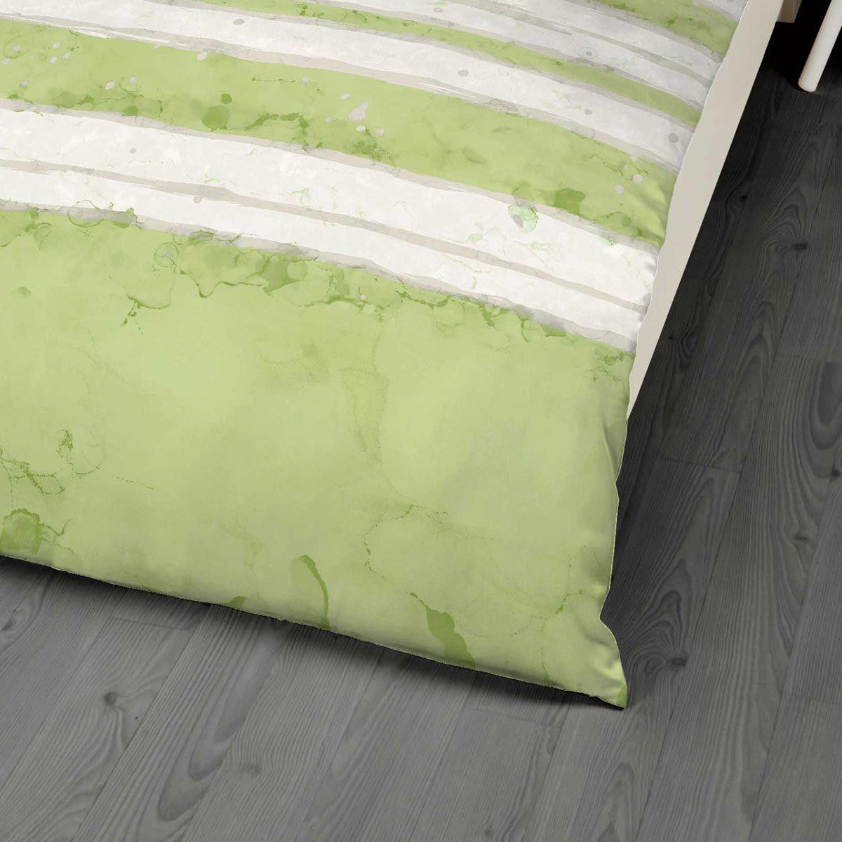 kaeppel mako satin bettw sche aquarello gr n g nstig online kaufen bei bettwaren shop. Black Bedroom Furniture Sets. Home Design Ideas
