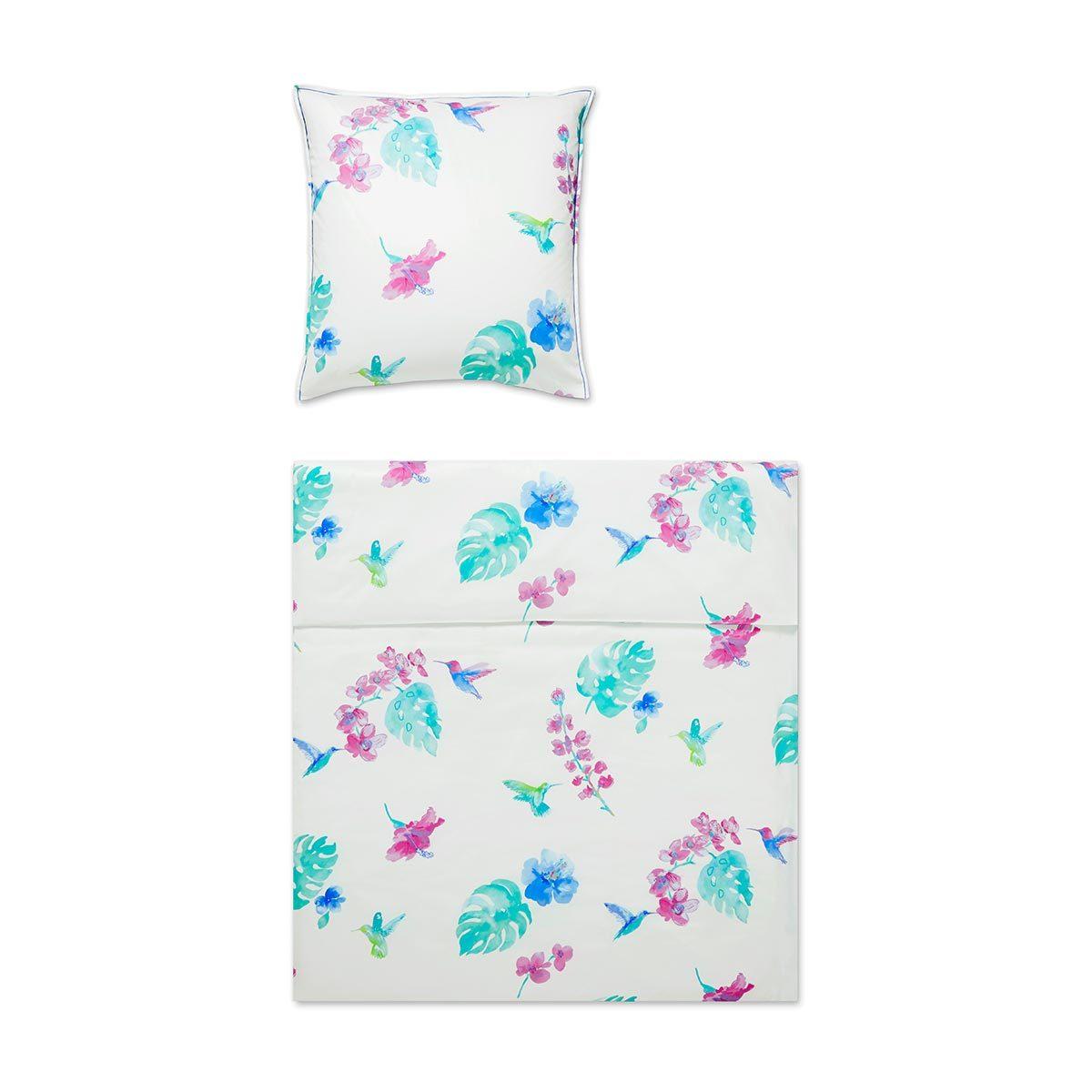 covered mako satin bettw sche flower bird magenta g nstig. Black Bedroom Furniture Sets. Home Design Ideas