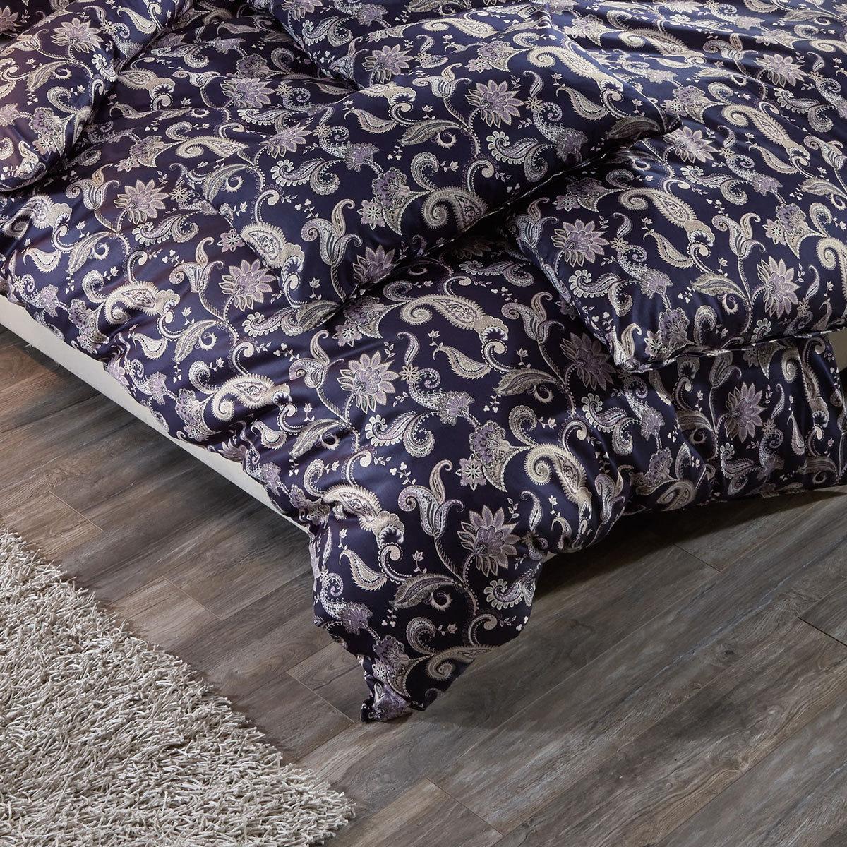 estella mako satin bettw sche isabell nachtblau g nstig online kaufen bei bettwaren shop. Black Bedroom Furniture Sets. Home Design Ideas