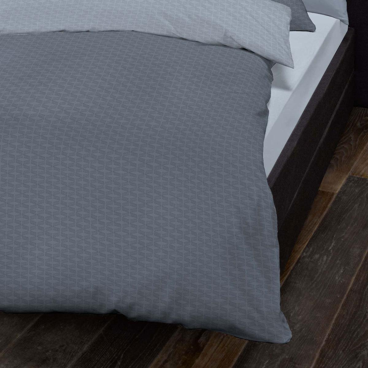 schlafgut mako satin bettw sche negro blau g nstig online. Black Bedroom Furniture Sets. Home Design Ideas