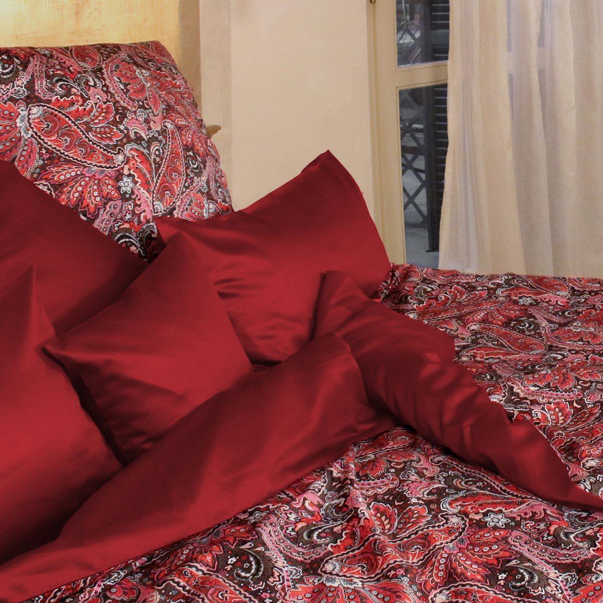 momm mako satin wendebettw sche vapi rot bordeaux g nstig. Black Bedroom Furniture Sets. Home Design Ideas