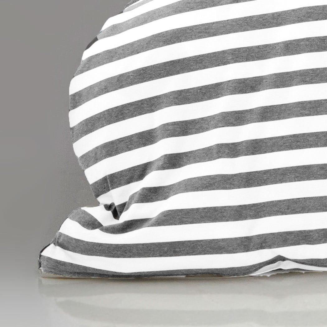 bettwarenshop melange streifen bettw sche grau weiss g nstig online kaufen bei bettwaren shop. Black Bedroom Furniture Sets. Home Design Ideas