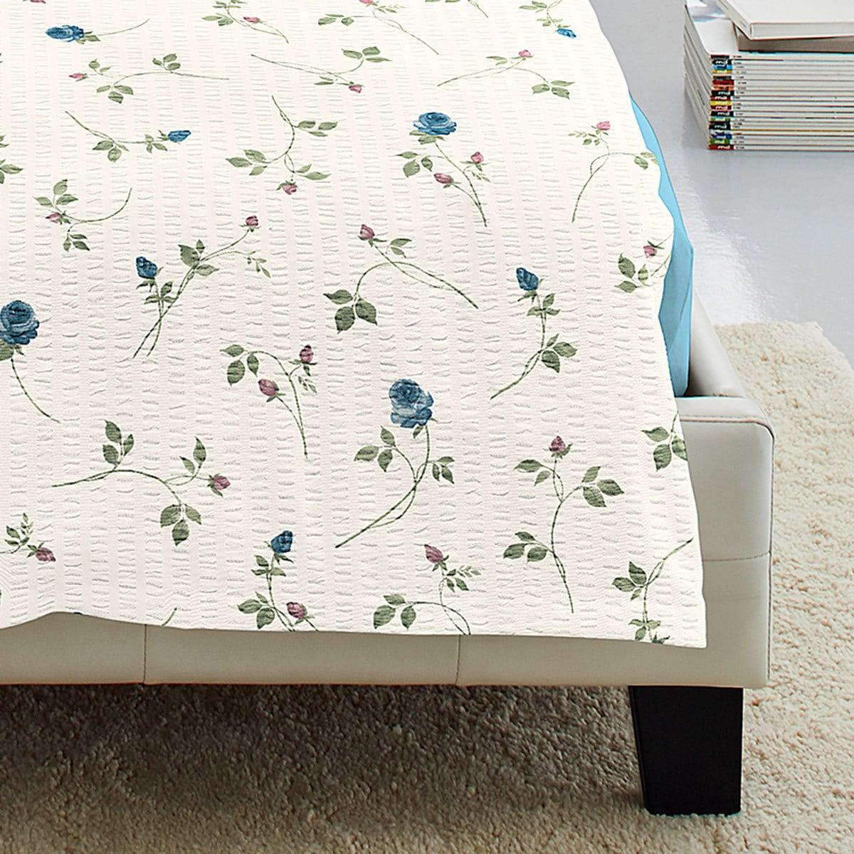irisette seersucker bettw sche flower blau g nstig online kaufen bei bettwaren shop. Black Bedroom Furniture Sets. Home Design Ideas