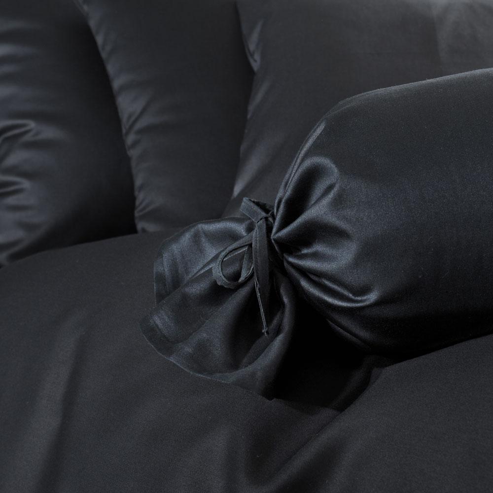 bettwarenshop uni mako satin bettw sche schwarz g nstig online kaufen bei bettwaren shop. Black Bedroom Furniture Sets. Home Design Ideas
