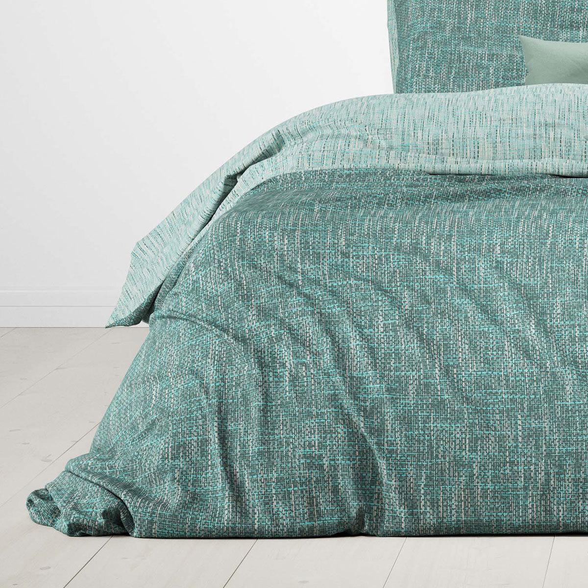 bettwarenshop wendebettw sche albi hellgr n dunkelgr n g nstig online kaufen bei bettwaren shop. Black Bedroom Furniture Sets. Home Design Ideas