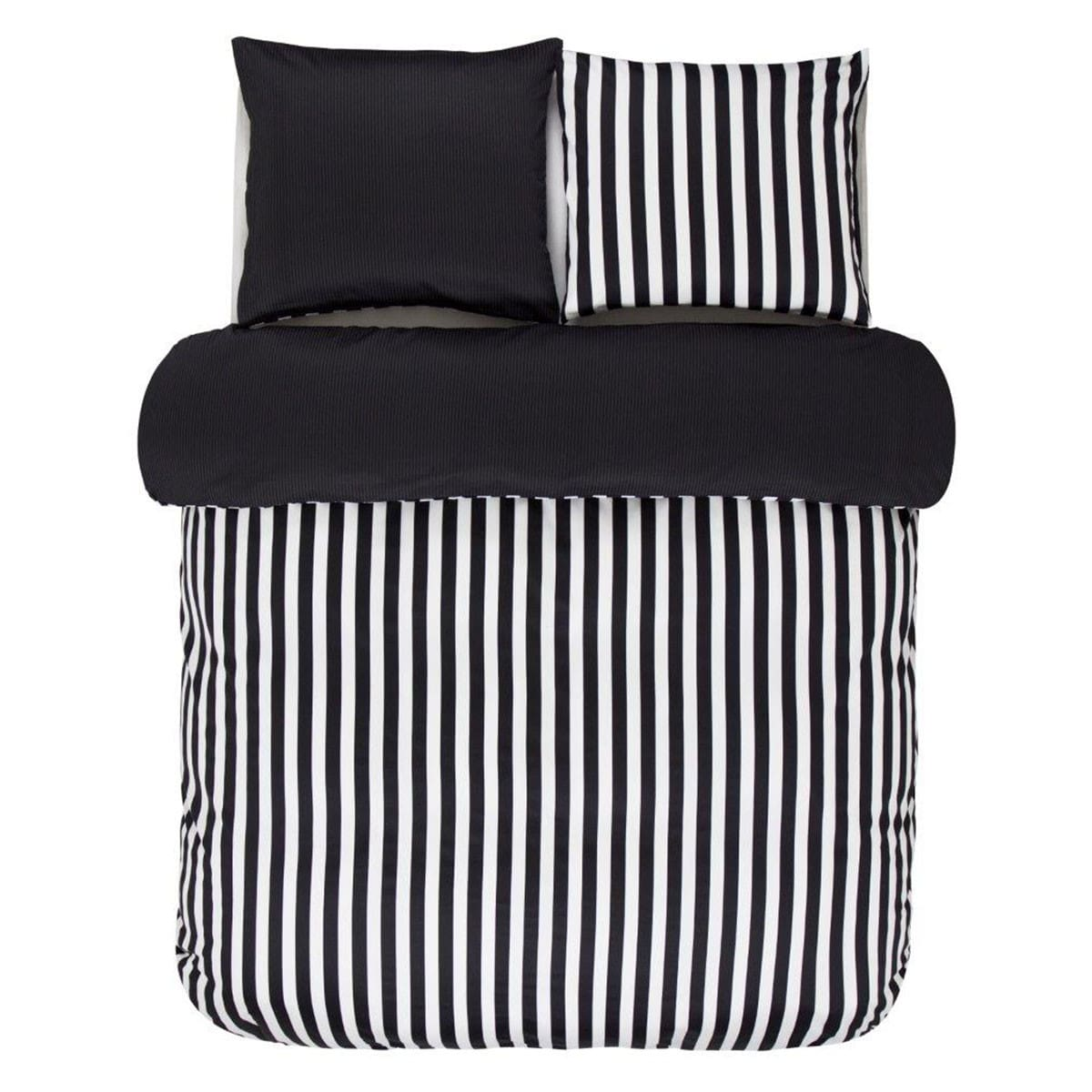marc o polo bettw sche classic stripe black g nstig online. Black Bedroom Furniture Sets. Home Design Ideas