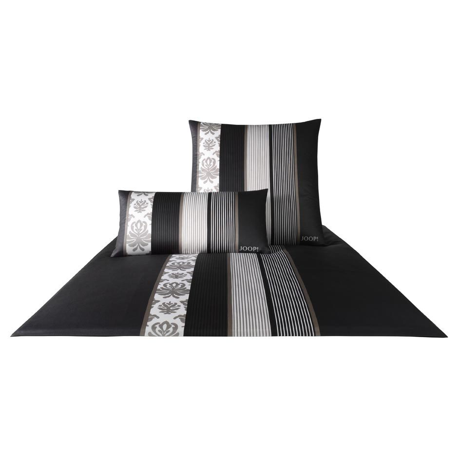 joop bettw sche ornament stripe schwarz 4022 09 g nstig online kaufen bei bettwaren shop. Black Bedroom Furniture Sets. Home Design Ideas