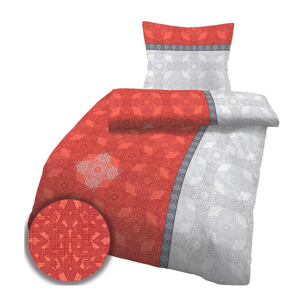 traumschlaf biber bettw sche queen ornaments rot g nstig online kaufen bei bettwaren shop. Black Bedroom Furniture Sets. Home Design Ideas