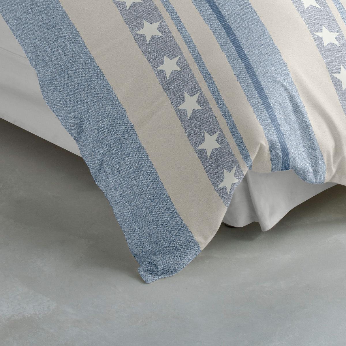 traumschlaf biber bettw sche sterne blau g nstig online. Black Bedroom Furniture Sets. Home Design Ideas