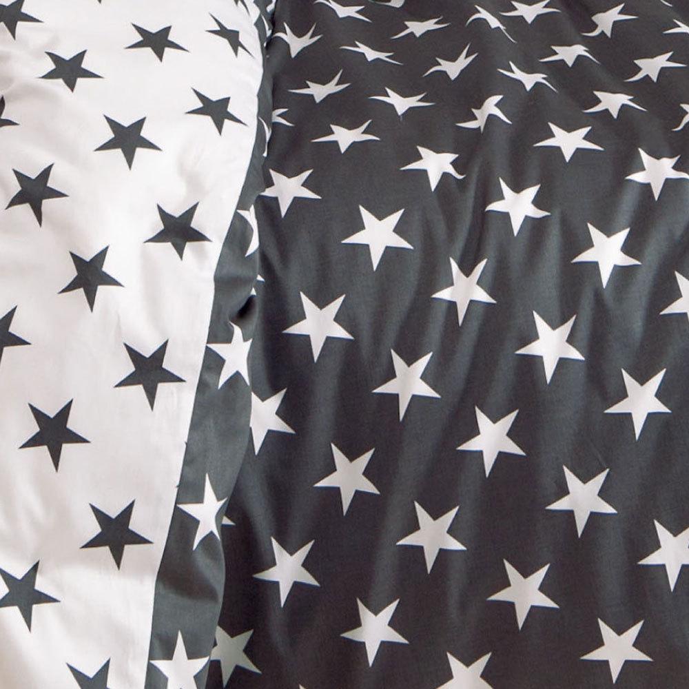 janine biber bettw sche sterne schwarz g nstig online. Black Bedroom Furniture Sets. Home Design Ideas