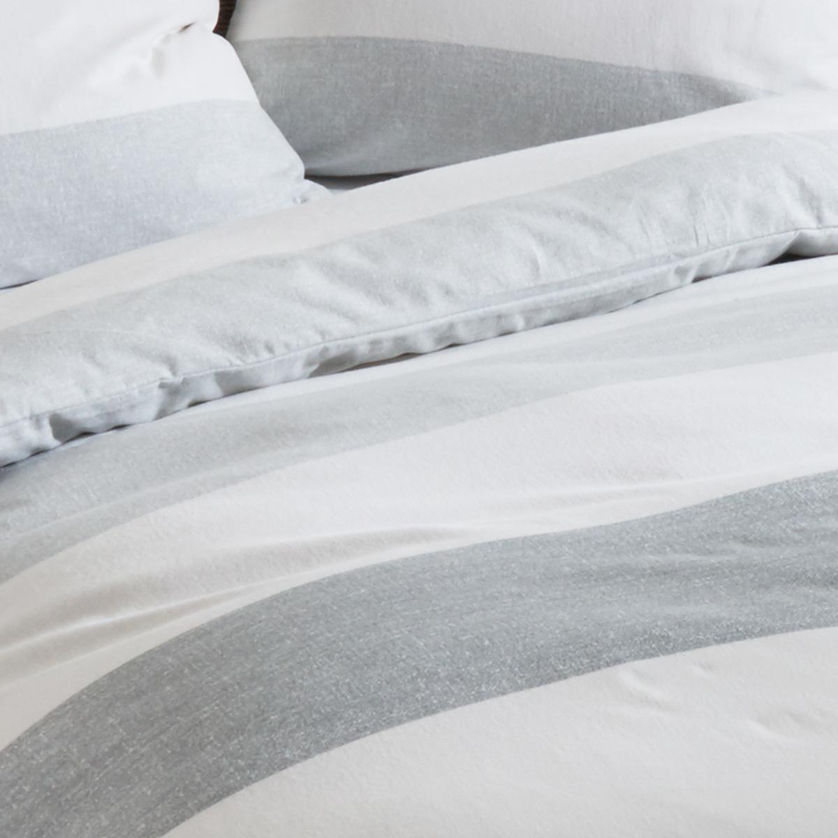 traumschlaf biber bettw sche streifen grau g nstig online kaufen bei bettwaren shop. Black Bedroom Furniture Sets. Home Design Ideas