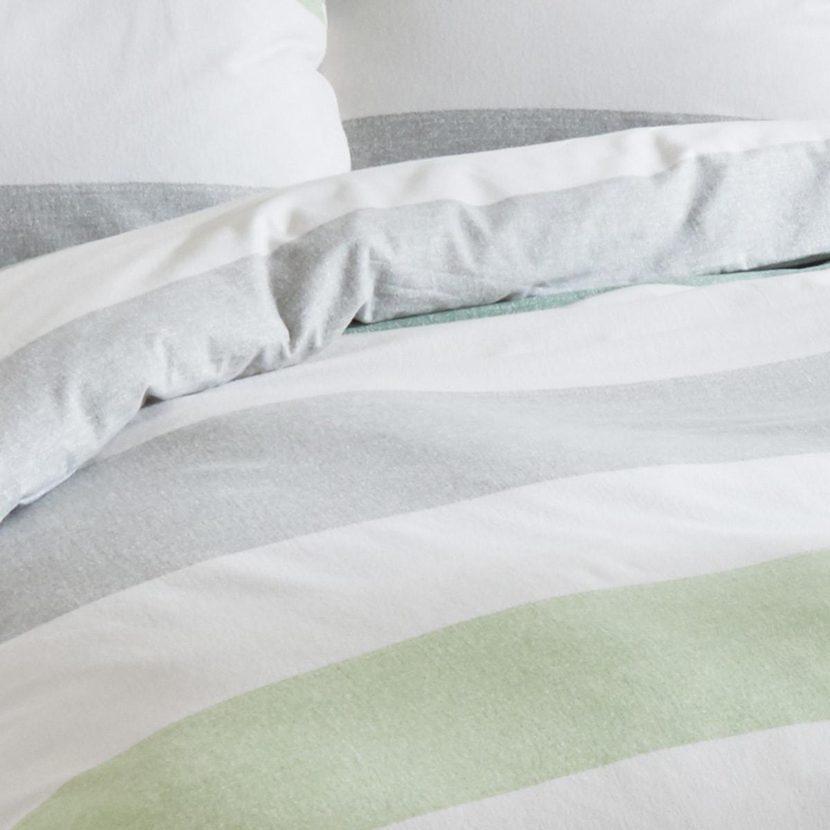 traumschlaf biber bettw sche streifen gr n g nstig online kaufen bei bettwaren shop. Black Bedroom Furniture Sets. Home Design Ideas