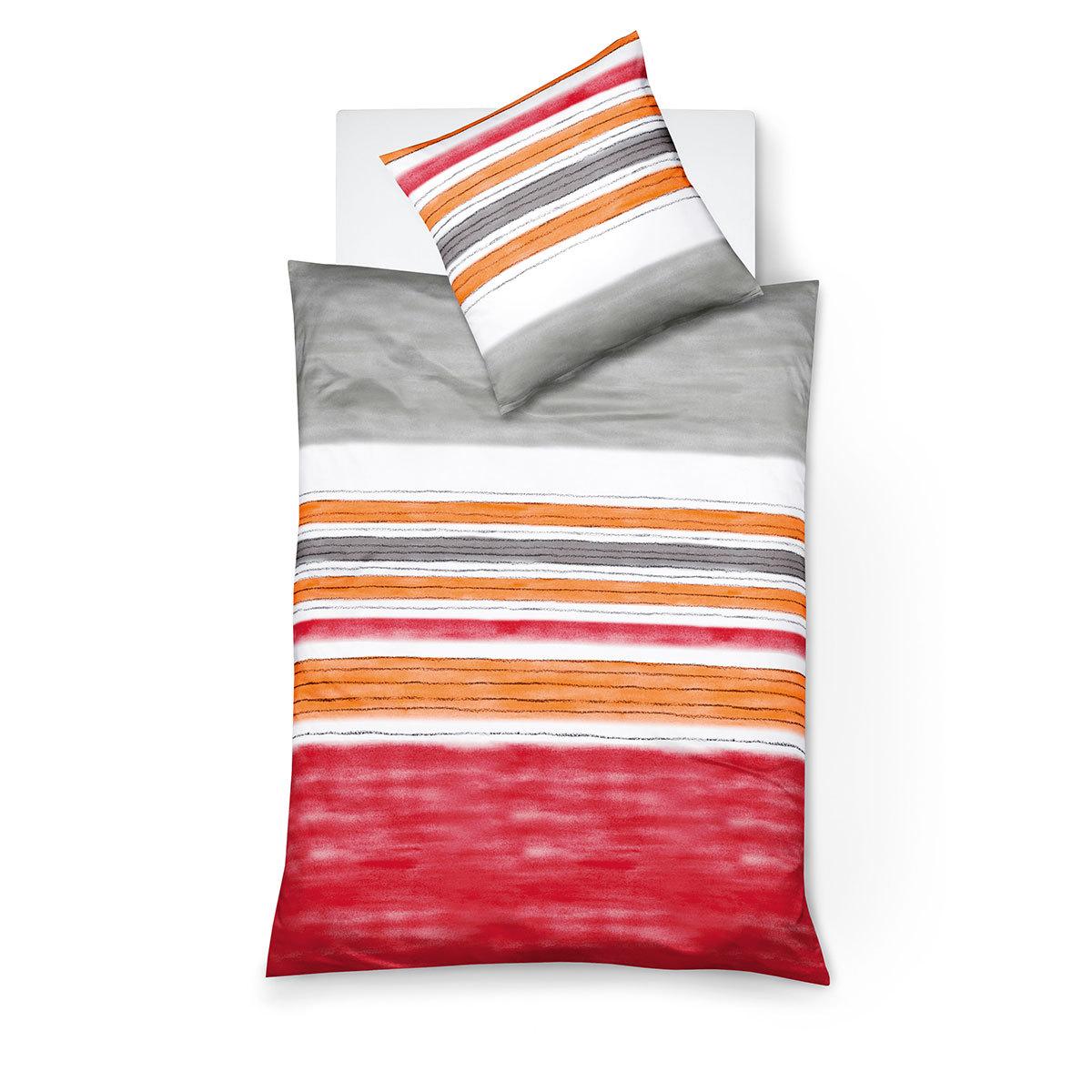 traumschlaf biber bettw sche streifen rot g nstig online kaufen bei bettwaren shop. Black Bedroom Furniture Sets. Home Design Ideas