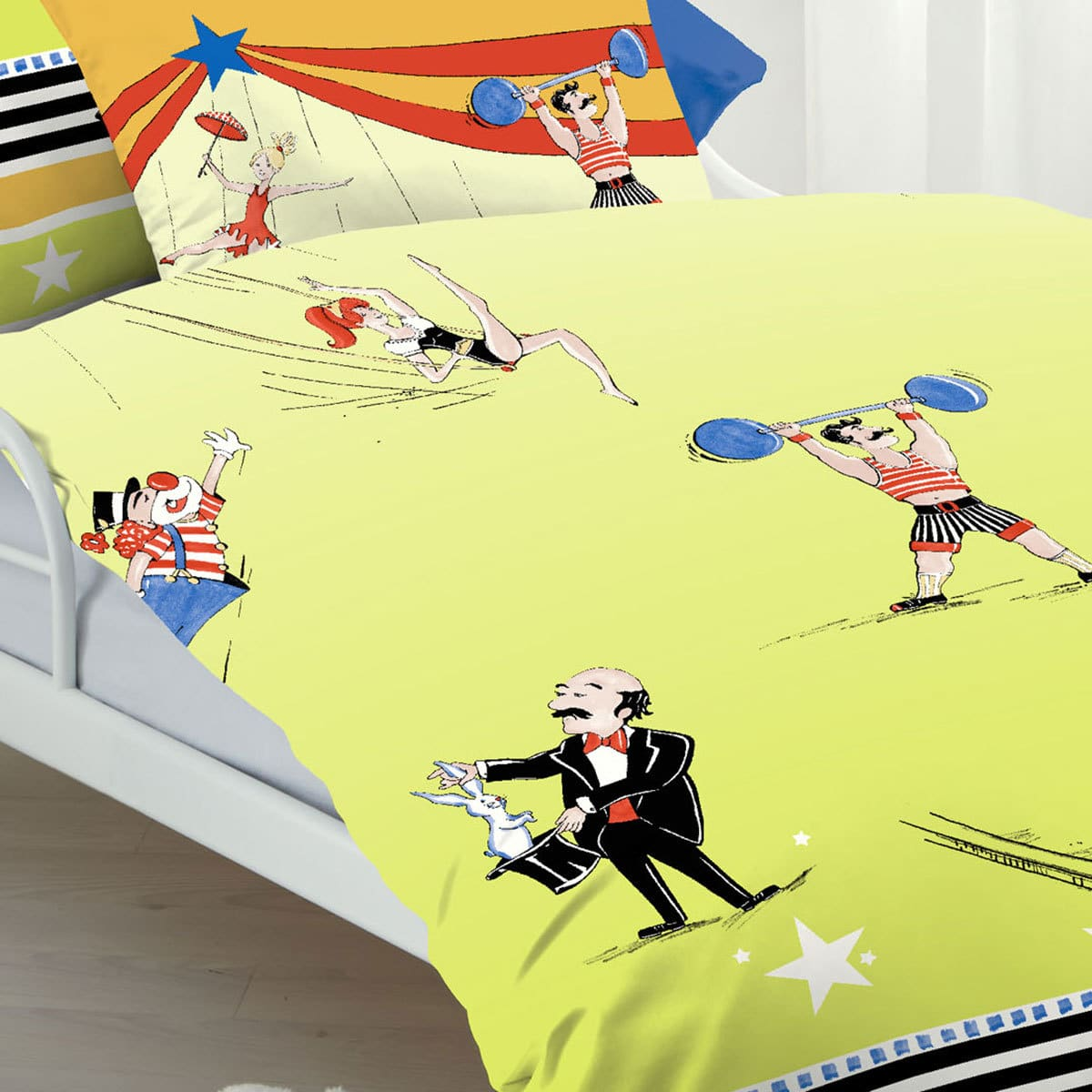 kaeppel biber kinderbettw sche zirkus g nstig online. Black Bedroom Furniture Sets. Home Design Ideas