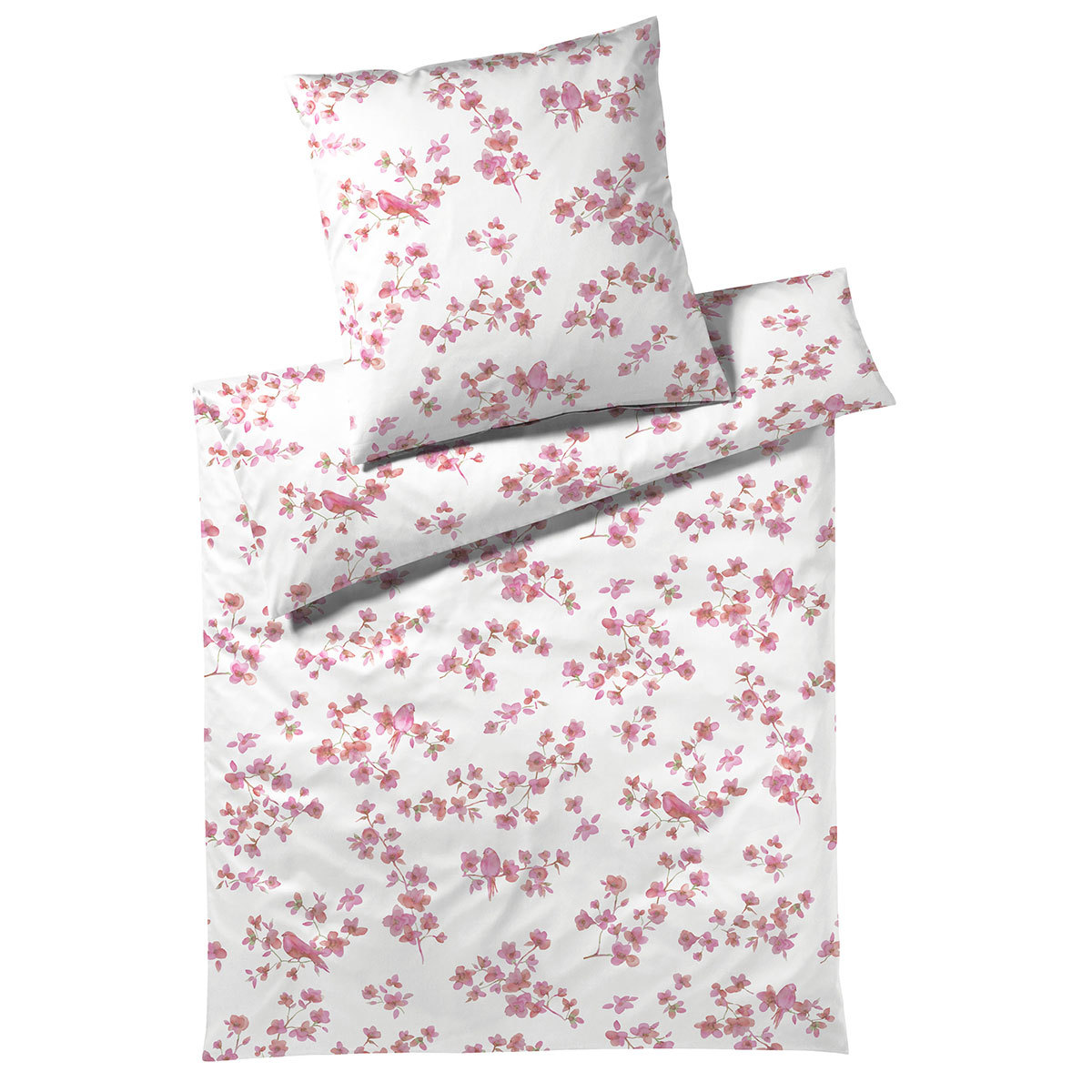 elegante jersey bettw sche birdie rouge g nstig online. Black Bedroom Furniture Sets. Home Design Ideas