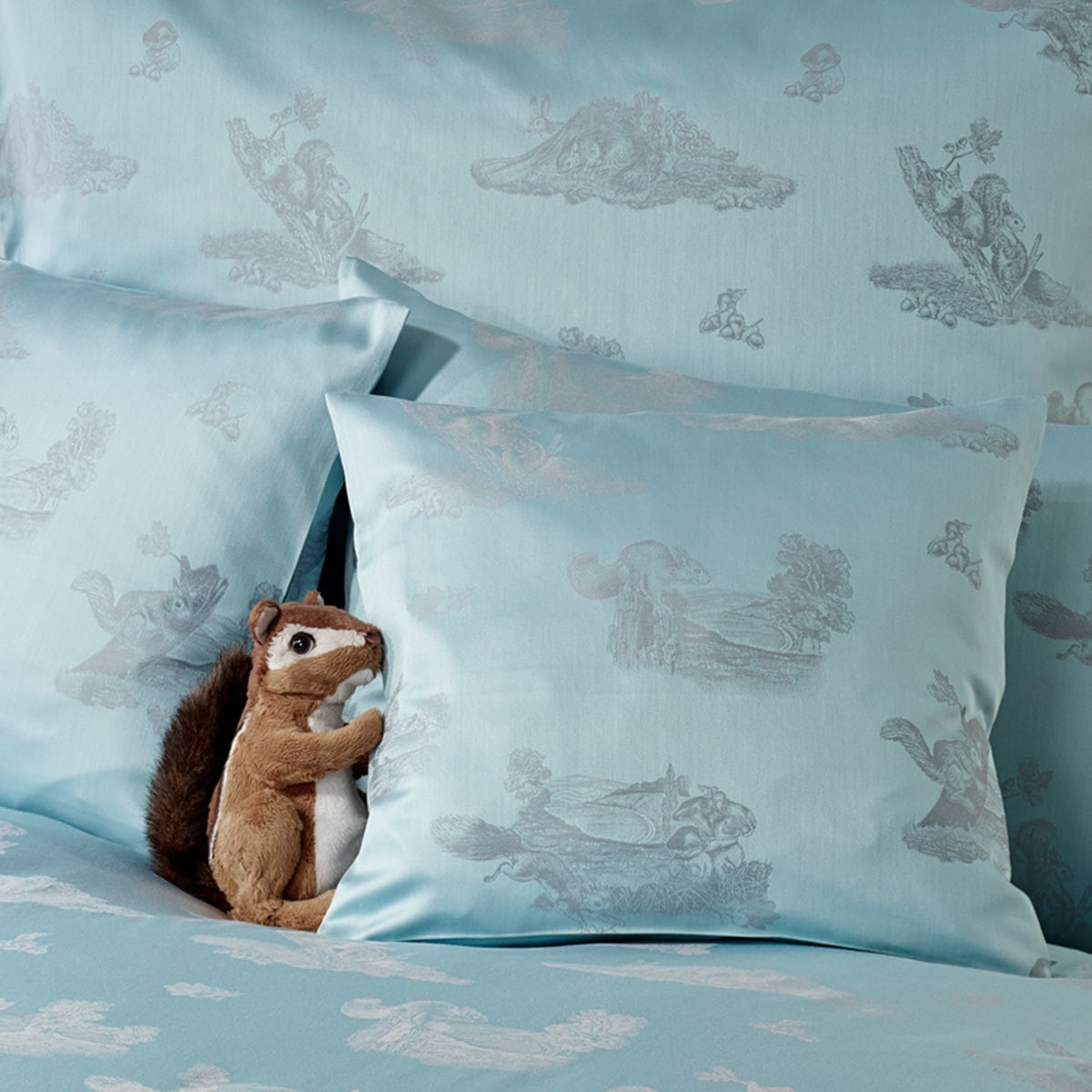 curt bauer mako brokat damast bettw sche waldfreunde t rkis g nstig online kaufen bei bettwaren shop. Black Bedroom Furniture Sets. Home Design Ideas