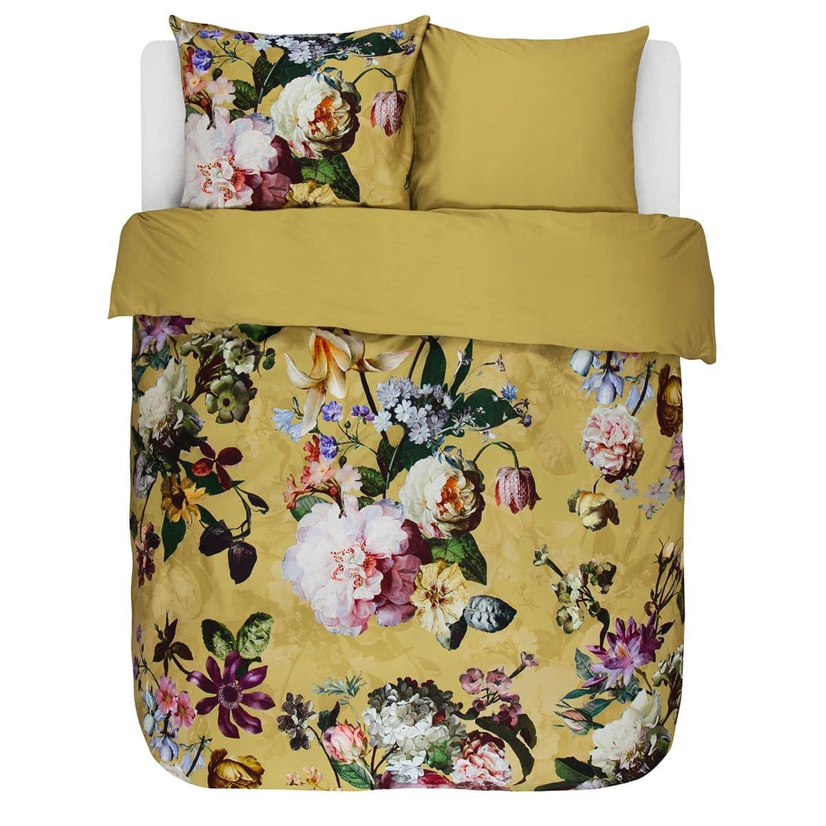 essenza mako satin bettw sche fleur golden yellow g nstig online kaufen bei bettwaren shop. Black Bedroom Furniture Sets. Home Design Ideas