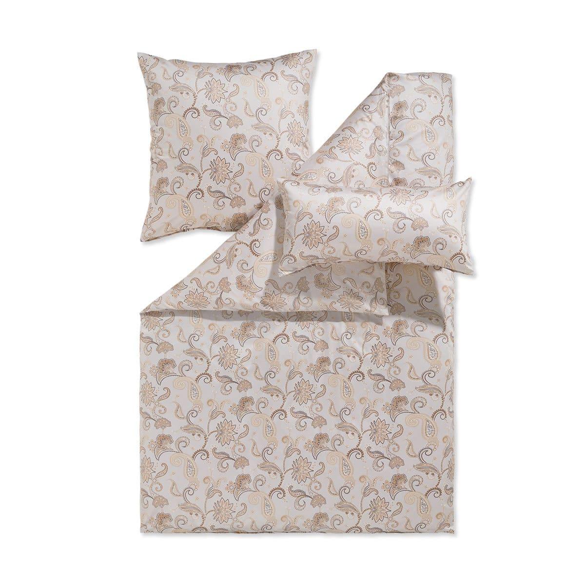 estella mako satin bettw sche isabell natur g nstig online. Black Bedroom Furniture Sets. Home Design Ideas