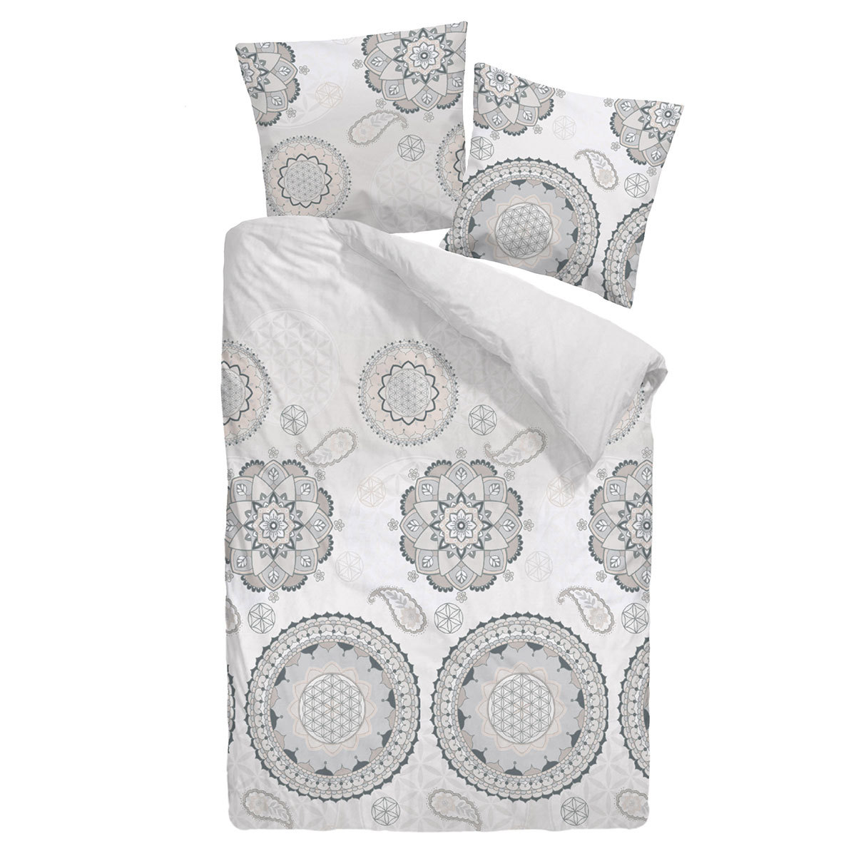 dormisette mako satin bettw sche ornamente g nstig online. Black Bedroom Furniture Sets. Home Design Ideas