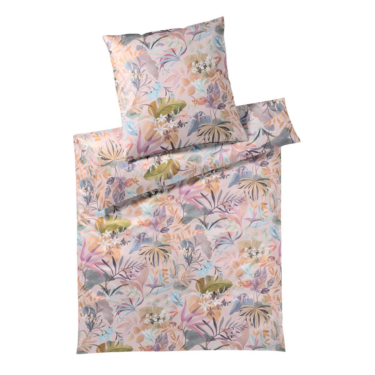 elegante mako satin bettw sche tropic puder g nstig online kaufen bei bettwaren shop. Black Bedroom Furniture Sets. Home Design Ideas