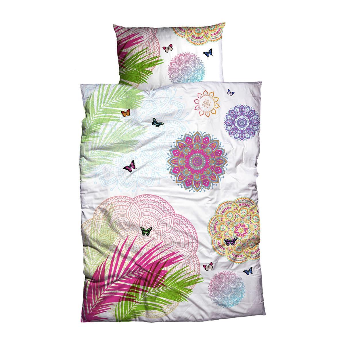 casatex renforc bettw sche eino jungle pink weiss g nstig online kaufen bei bettwaren shop. Black Bedroom Furniture Sets. Home Design Ideas