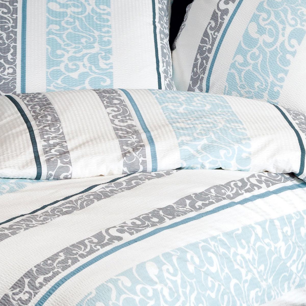janine seersucker bettw sche tango 20046 02 blau platin g nstig online kaufen bei bettwaren shop. Black Bedroom Furniture Sets. Home Design Ideas