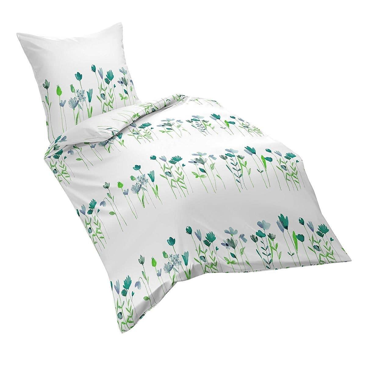 traumschlaf seersucker bettw sche tulpe blau g nstig online kaufen bei bettwaren shop. Black Bedroom Furniture Sets. Home Design Ideas